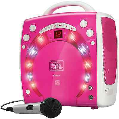 Microphone Portable Kids Karaoke Machine Voice Singing CDGs Party Lights 56 Hits