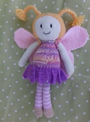Brand New - Hand Knitted Cuddly Fairy Doll Soft Toy