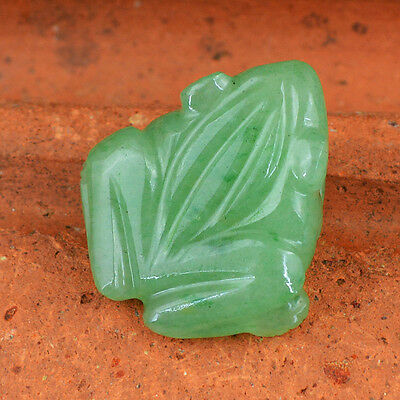 Superb Rare 57.10 Cts Natural Untreated Rich Green Jade Carved Frog Gemstone