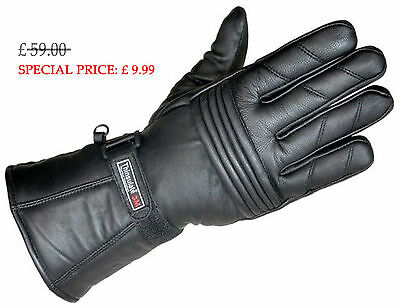 New Winter Leather Motorbike Motorcycle Waterproof Gloves,3M Thermal Thinsulate