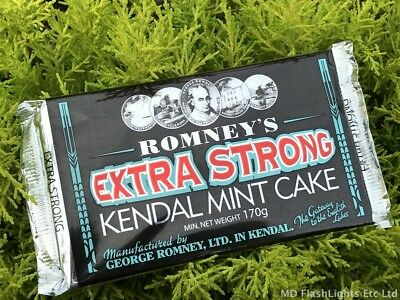 Romneys Extra Strong Kendal Mint Cake 170G Bar Bushcraft Survival Camping Hiking