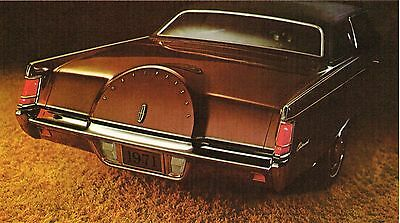 1971 LINCOLN CONTINENTAL Mark Mk. 3 III Brochure / Catalog with Specifications