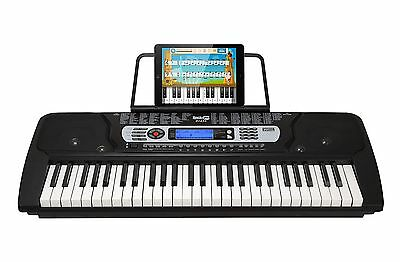 RockJam 54-Key Portable Digital Piano Keyboard with Music Stand and Interacti...