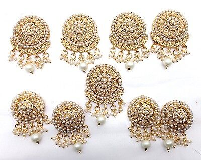 Indian Asian Bridal Traditional Jewellery 9 Pieces Choti Hair Accessory