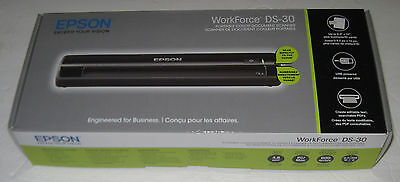 Epson WorkForce DS-30 Portable Color Document Scanner PC MAC New
