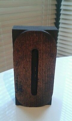 """Large 4"""" tall Letterpress wooden printing block of the letter O"""