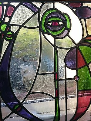 Beautiful Rennie Mackintosh Inspired Stained Glass Panel - Commissioned Piece!