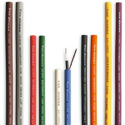 Van Damme XKE Instrument Cable. Per Metre. All Colours. Multi Variation Listing.