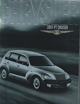 Lrg. 2001 Chrysler PT CRUISER Brochure / Catalog w/Color Chart: P.T.,TOURING,'01