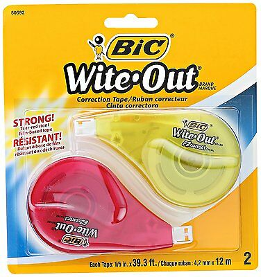 BIC Wite-Out Brand EZ Correct Correction Tape, 2-Pack 50592