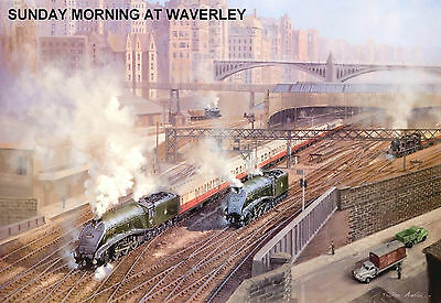 "Hornby Dublo in Railway Art ""Sunday Morning at Waverley"" No 13 Signed & Numbered"