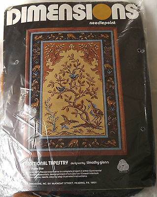 DIMENSIONS 2052 TRADITIONAL TAPESTRY needlepoint kit SEALED 1978