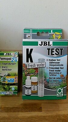 JBL K FRESHWATER TEST X25 PLUS FERROPOL 24 PROFLORA AQUARIUM PLANTS 50ml
