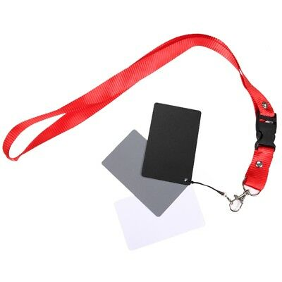 3in1 White Balance Card Set 18% Grey Gray Card with Lanyard for Video Camcorder