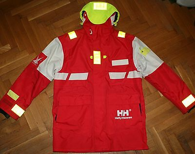 Helly Hansen Sailing Offshore Hooded Waterproof Long Jacket/Parka Reflective M-L