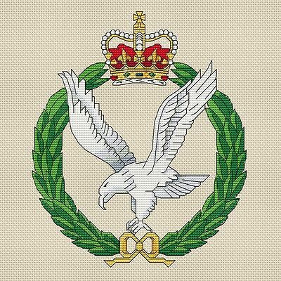 """5x7/"""", 13x18cm, kit or chart Army Catering Corps Cross Stitch Design"""