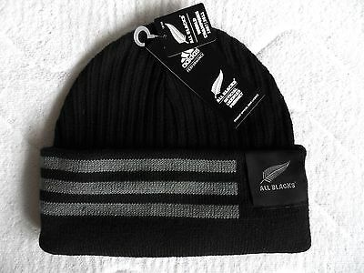 ADIDAS ALL BLACKS 2017 RUGBY BEANIE HAT *Normal or Slouchy* New Zealand Hut OSFM