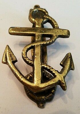 Vintage Nautical Anchor Brass Door Knocker