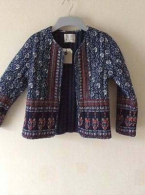 ZARA  Girls Printed Jacket  Age: 9-10 Yrs (140cm) BNWT!