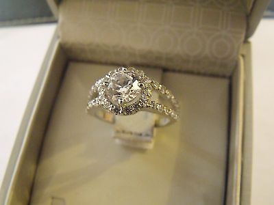 BAGUE Or Blanc 14 carats Taille 55 / new neuf