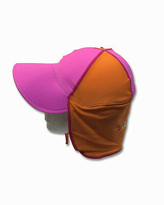 Bright Bots Baby Girl Legionnaires Swim Hat Upf 50+ Bnwt S/m M/l Pink Orange