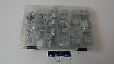 64 Pieces Orfs O-Ring  Ors Plug And Cap Hydraulic Fitting Flat Face Seal Kit Set