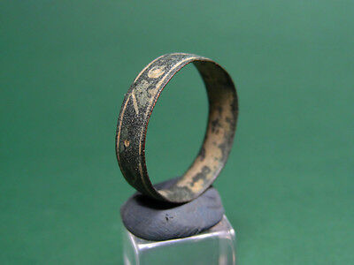 Ancient Wedding Band Bronze Greco-Roman 200 Bc-100 Ad
