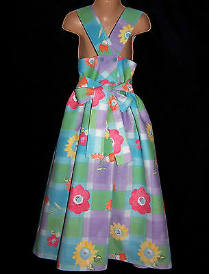 Laura Ashley vintage mother & child label floral cotton pinafore-dress 7years