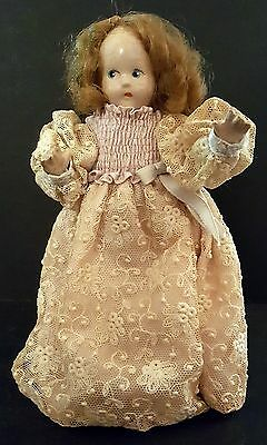 """Vintage Alexander 7"""" Tiny Betty Composition Doll"""