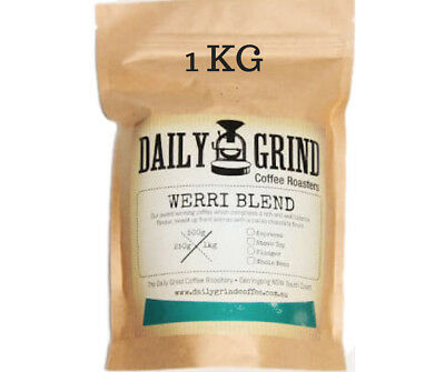 Coffee Beans 1Kg Werri Blend Speciality Coffee Bean Roasters Espresso Pour Over