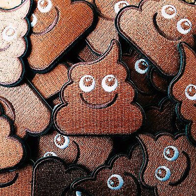 "Embroidered Happy Poo Patch (2"" x 2"") poop turd unchi unko kawaii emoji crap"