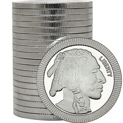 SilverTowne Buffalo Stackables .999 Silver 1oz Med (20ct)