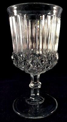 Prism And Sawtooth Goblet Clear Flint Pattern Glass Unknown 1860s Water Wine