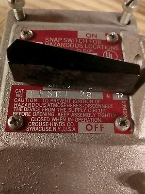 Crouse Hinds Explosion Proof Snap Switch EFSC-1129