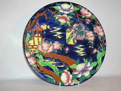 "Maling Art Deco Charger Plate "" Japanese Lantern "" CIRCA 1930 - 40"