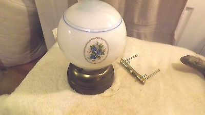 Small Vintage Ceiling Light Fixture Glass Globe Old Kitchen Bathroom  LF 23