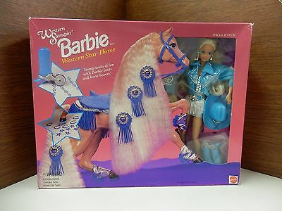 Western Stampin Barbie with Western Star Horse, Stamp Trail of Fun Mattel #11020