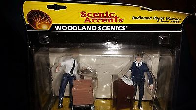 G Scale Woodland Scenics Dedicated Depot Workers A2555 NIP