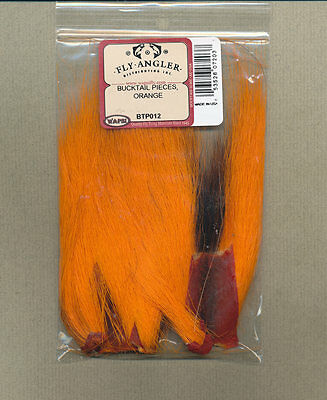 Bucktail Pieces - orange
