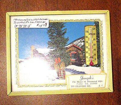 Joseph's, The Treasured House Of Gifts  Advertising 1967Calendar/thermometer