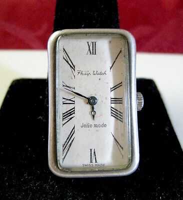 Very Rare And Unique Vintage 800 Silver Philip Watch Jolie Mode Hand Wind Runs