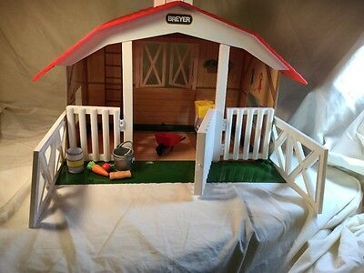 Breyer Ponies Classic Barn #650 Vintage In Box Horse Show plus extras