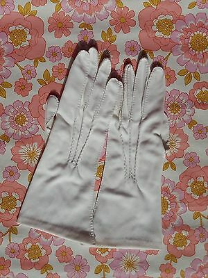 Vintage GLOVES evening 1960s 1950s ladies accessory Size 7 retro pair of white