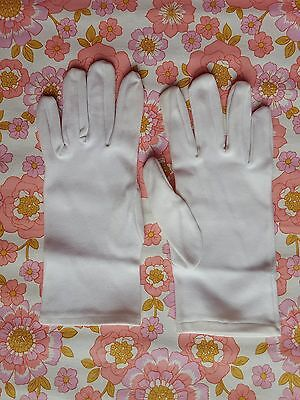 Vintage GLOVES evening 1960s 1950s ladies accessory pair of white