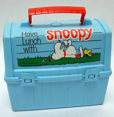 Vintage 1968 Peanuts Snoopy Plastic Lunch Box Have Lunch With Snoopy No Thermos