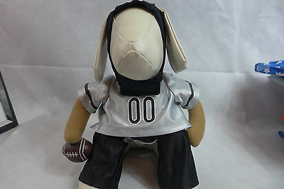 Pet Dog Halloween Costume Football Player with Helmet Black & Silver New