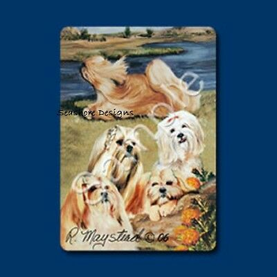 """LHASA APSOS - Ruth Maystead """"Best Friends"""" Dog Playing Cards Box Sealed NEW"""
