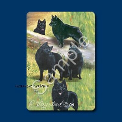 "SCHIPPERKES - Ruth Maystead ""Best Friends"" Dog Playing Cards Box Sealed NEW"