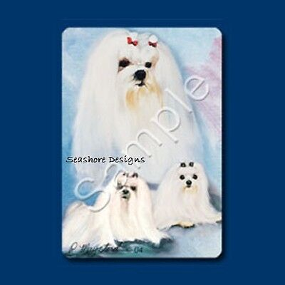 """MALTESE - Ruth Maystead """"Best Friends"""" Dog Playing Cards Box Sealed NEW"""