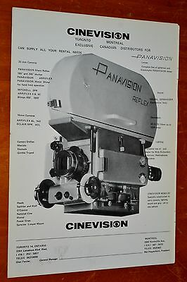 1974 Panavision Reflex Movie Film Camera Ad + Motion Magazine Cover On Back